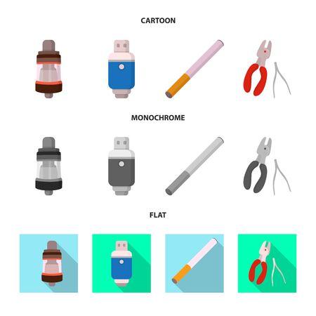 Vector illustration of technology and taste symbol. Set of technology and trendy stock symbol for web.