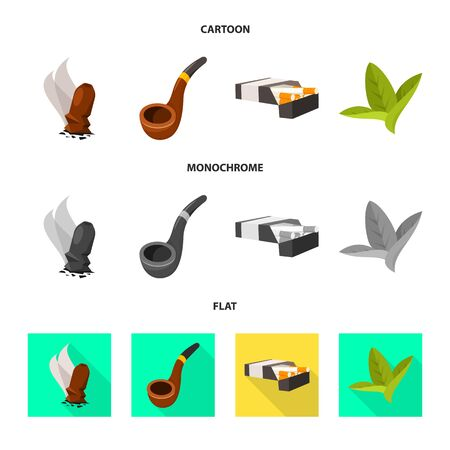 Isolated object of accessories and harm sign. Set of accessories and euphoria vector icon for stock.