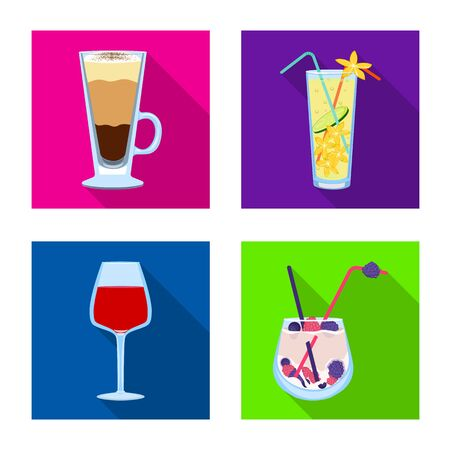 Vector design of liquor and restaurant . Collection of liquor and ingredient stock vector illustration. Stock Illustratie