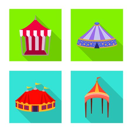 Isolated object of awning and shelter . Set of awning and canopy stock symbol for web. Ilustração