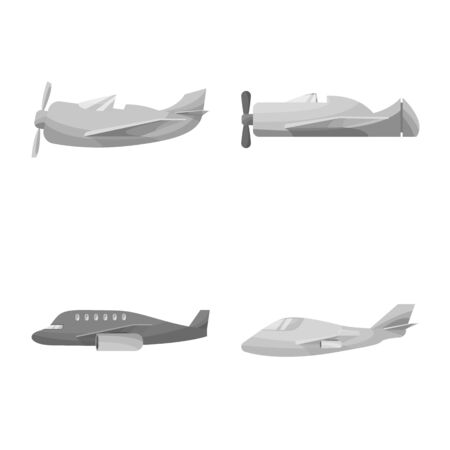 Vector design of aviation and airline symbol. Set of aviation and airways stock vector illustration.