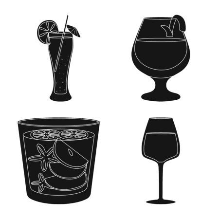 Vector design of club and ingredient . Set of club and drink vector icon for stock.