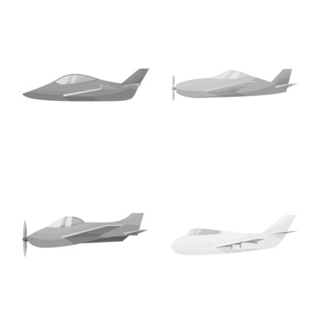 Vector design of aviation and airline . Collection of aviation and airlines stock symbol for web.