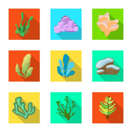 Vector illustration of biodiversity and nature . Collection of biodiversity and wildlife vector icon for stock.