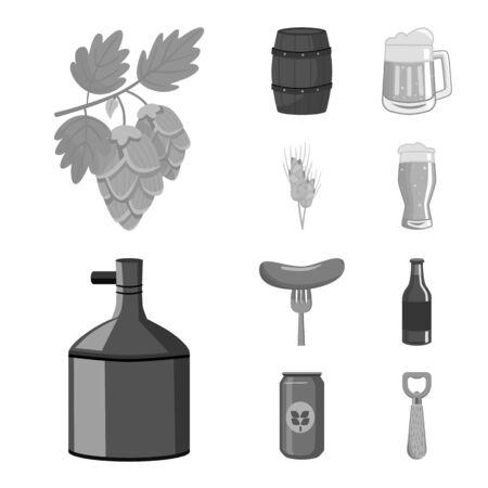 Vector design of restaurant and oktoberfest icon. Collection of restaurant and brewing vector icon for stock.
