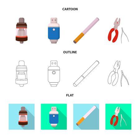 Vector design of technology and taste sign. Set of technology and trendy stock vector illustration. Stock Illustratie