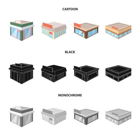 Vector design of and urban  . Collection of and house vector icon for stock. Иллюстрация