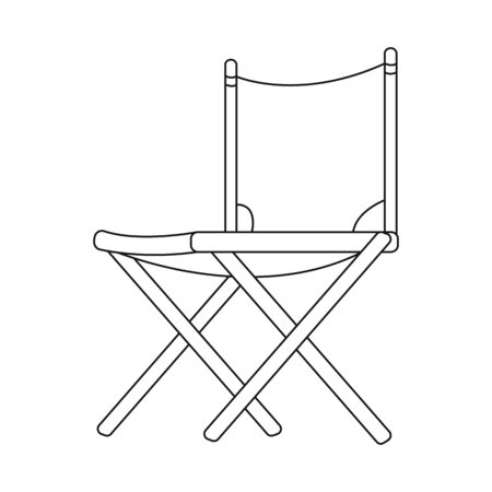 Vector design of chair and folding  . Collection of chair and camp stock symbol for web.