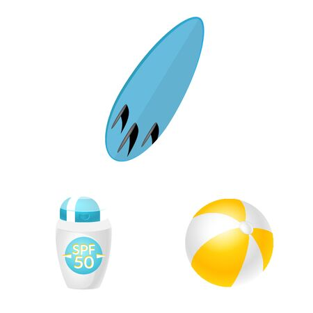 Vector illustration of equipment and swimming symbol. Collection of equipment and activity vector icon for stock.