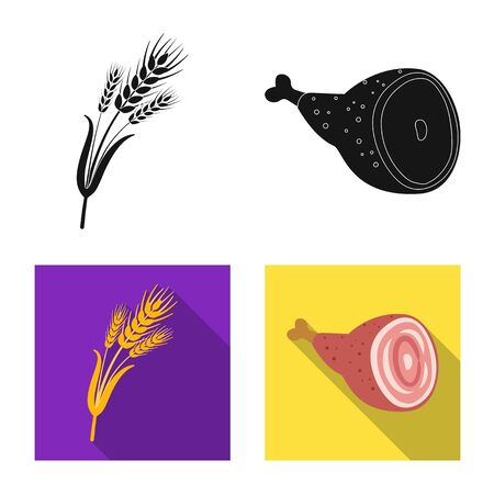 Vector illustration of pub and bar icon. Collection of pub and interior stock vector illustration.