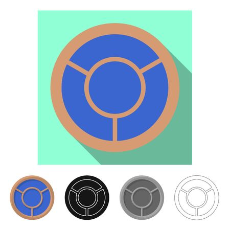 Vector illustration of door and front symbol. Set of door and wooden vector icon for stock.