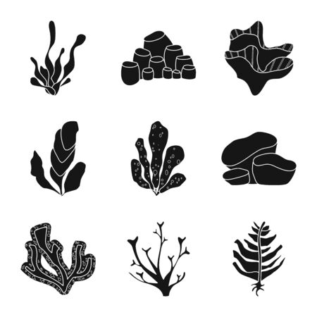 Isolated object of decoration and wildlife symbol. Collection of decoration and aquarium stock symbol for web.