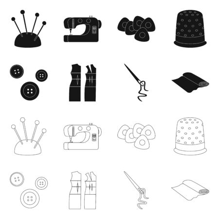 Vector illustration of craft and handcraft . Collection of craft and industry stock symbol for web.