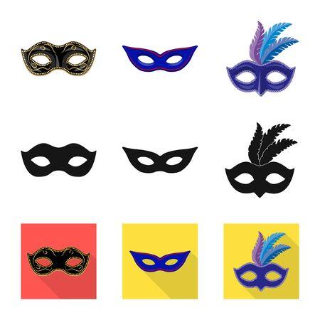 Vector illustration of luxury and celebration symbol. Set of luxury and hide stock vector illustration. Иллюстрация