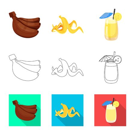 Vector illustration of natural and vegetarian  . Set of natural and eating stock symbol for web. Stok Fotoğraf - 129149634