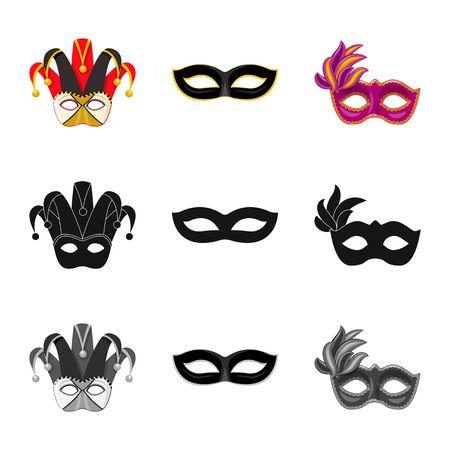 Vector illustration of luxury and celebration symbol. Collection of luxury and hide vector icon for stock. Иллюстрация