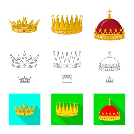 Vector illustration of medieval and nobility  . Set of medieval and monarchy stock symbol for web.