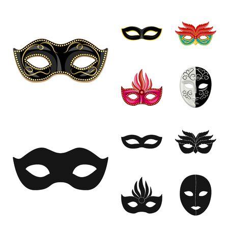 Isolated object of luxury and celebration symbol. Set of luxury and hide stock symbol for web. Ilustração