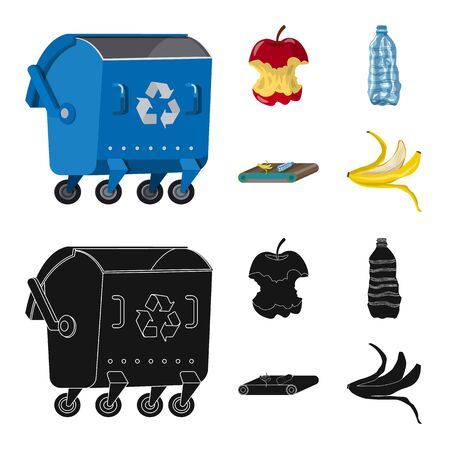 Vector design of refuse and junk icon. Collection of refuse and waste stock vector illustration. Illustration