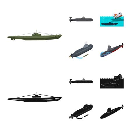 Vector design of war and ship sign. Collection of war and fleet stock vector illustration. Иллюстрация