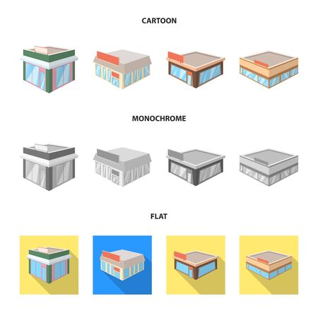 Vector illustration of and urban . Set of and house stock vector illustration.
