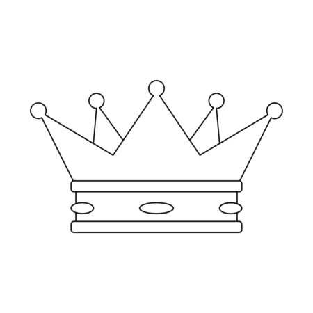 Vector illustration of crown and king icon. Set of crown and gold vector icon for stock.