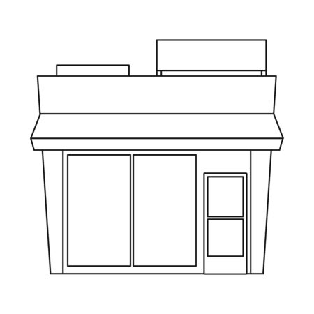 Vector design of office and shop sign. Set of office and entrance stock symbol for web. Stock Illustratie