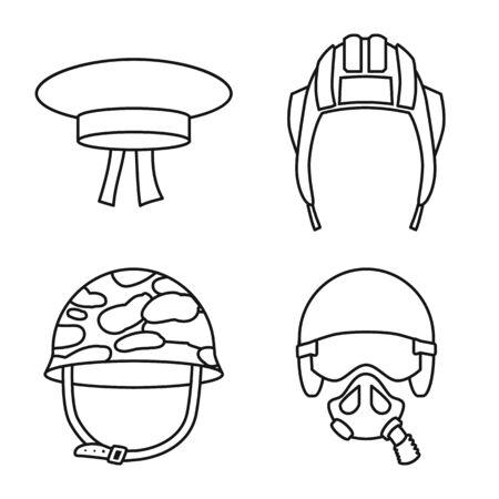 Vector illustration of uniform and soldier symbol. Collection of uniform and modern stock vector illustration. 일러스트