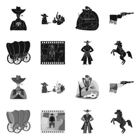 Isolated object of texas and history sign. Collection of texas and culture vector icon for stock. Illustration
