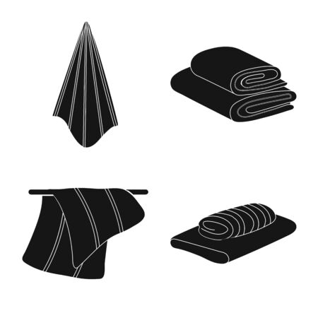 Vector design of textile and household sign. Set of textile and beach stock symbol for web. 일러스트