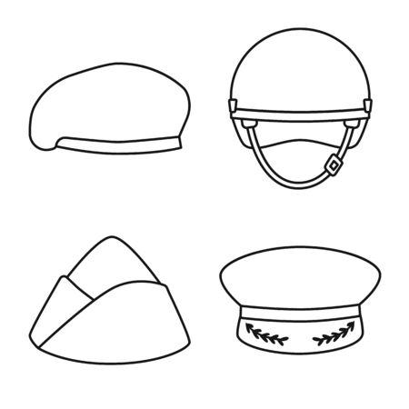 Vector illustration of uniform and soldier symbol. Set of uniform and modern stock symbol for web.