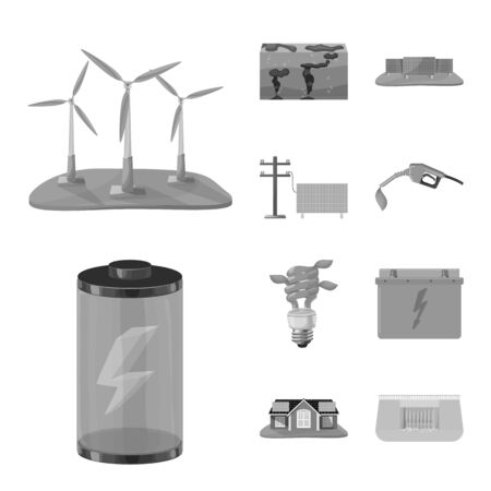 Isolated object of renewable and environment . Collection of renewable and organic stock vector illustration.