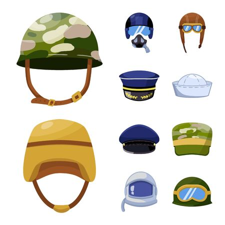 Vector design of army and officer sign. Collection of army and soldier stock symbol for web.