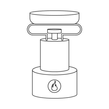 Vector design of burner and survival symbol. Set of burner and gas vector icon for stock.