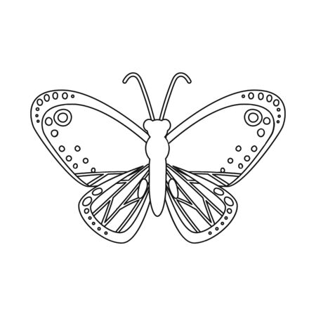 Isolated object of butterfly and red symbol. Collection of butterfly and species stock symbol for web.