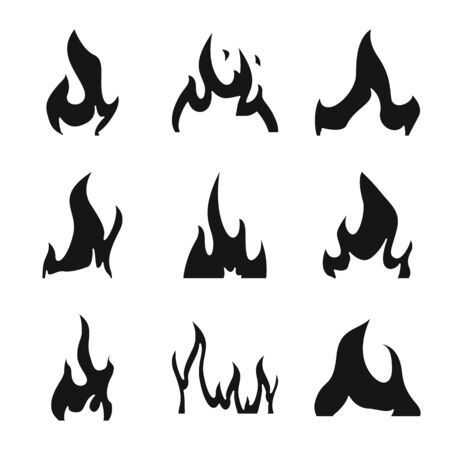 Vector design of blazing and wildfire sign. Set of blazing and red vector icon for stock.
