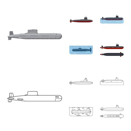 Vector design of war and ship . Collection of war and fleet stock symbol for web.