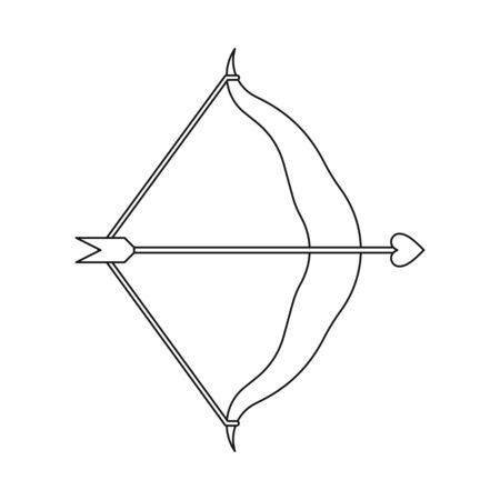 Isolated object of arrow and amour . Set of arrow and love vector icon for stock.