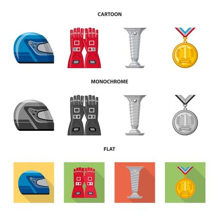 Isolated object of car and rally symbol. Collection of car and race vector icon for stock. Stock Illustratie