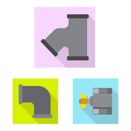 Vector illustration of pipe and tube icon. Collection of pipe and pipeline stock vector illustration.