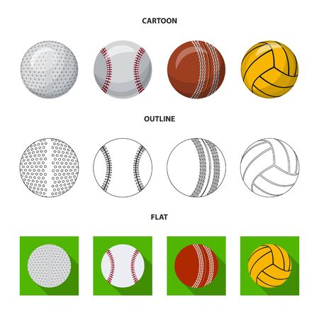 Isolated object of sport and ball logo. Set of sport and athletic stock vector illustration.