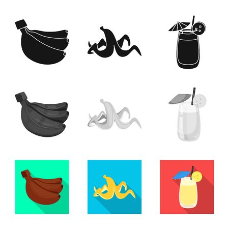 Isolated object of natural and vegetarian icon. Collection of natural and eating stock vector illustration. Stok Fotoğraf - 129228250