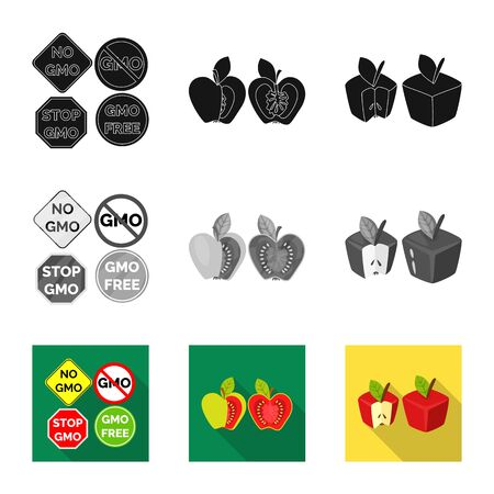 Isolated object of test and synthetic icon. Collection of test and laboratory vector icon for stock.