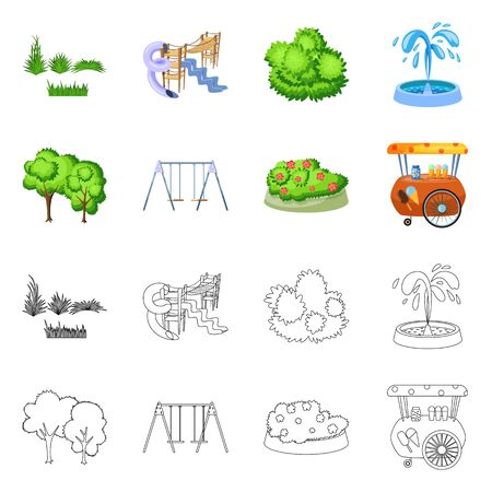 Isolated object of urban and street. Set of urban and relaxation vector icon for stock. 写真素材 - 129228484