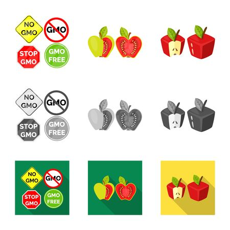 Vector illustration of test and synthetic icon. Collection of test and laboratory stock vector illustration. Çizim