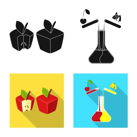 Vector design of test and synthetic icon. Collection of test and laboratory stock symbol for web.