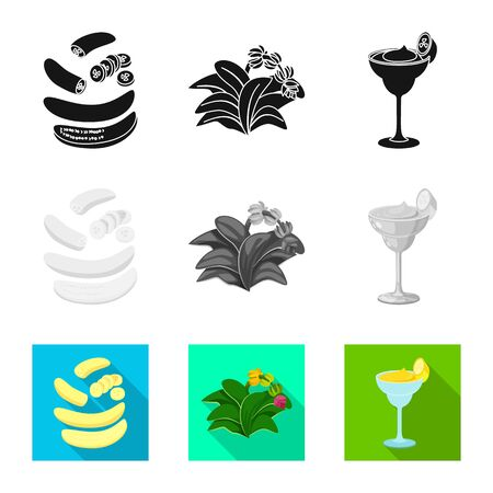 Vector design of natural and vegetarian icon. Set of natural and eating stock vector illustration. Ilustrace