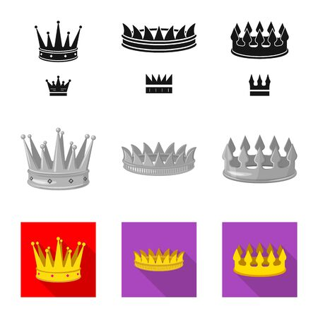 Isolated object of medieval and nobility. Collection of medieval and monarchy vector icon for stock.