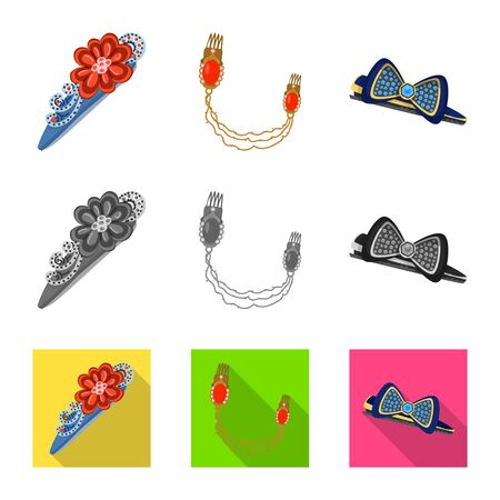 Vector illustration of beauty and fashion sign. Collection of beauty and female vector icon for stock. Çizim