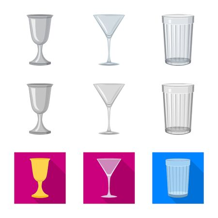 Vector design of form and celebration. Collection of form and volume stock symbol for web.